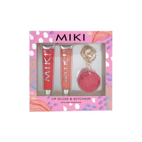 Miki Lip Gloss and Keychain