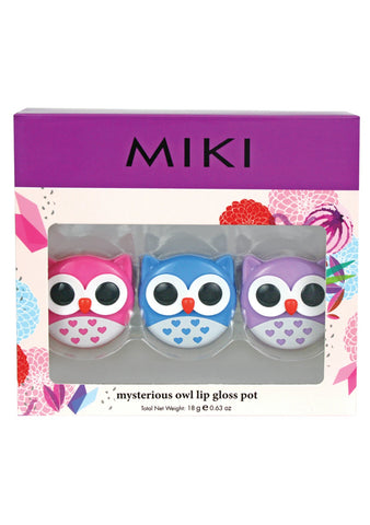 Miki Mysterious Owl Lip Gloss Pot
