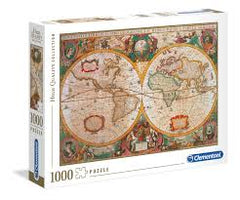 1000 Piece Puzzle Old Map Clementoni