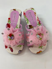 Dress Up Shoes - F7087 Pink Flower Shoes