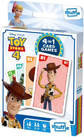 Toy Story 4 Shuffle 4 in 1 Card Games