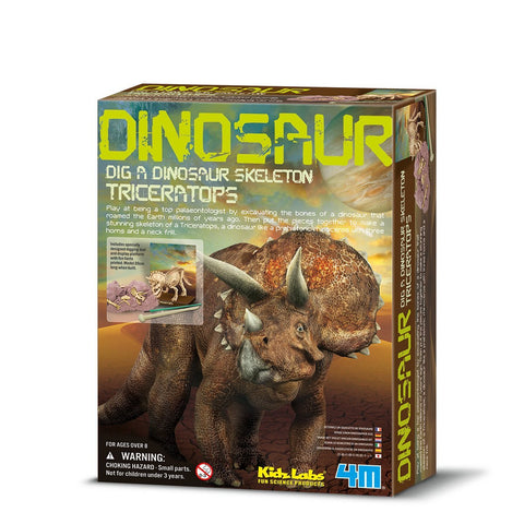 Triceratops Dinosaur Skeleton Excavation Dig Kit