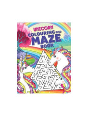 Unicorn Colouring and Maze Book