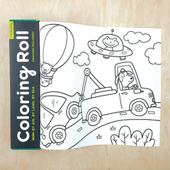 kidz-stuff-online - Air by Land by Sea Coloring Roll