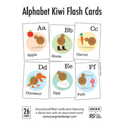 Alphabet Flash Cards with Kiwi Theme