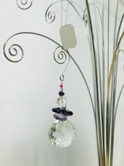 Angel violet crystal Suncatcher