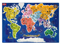 Animals of the World Map - Magnetic Playboard & Puzzle