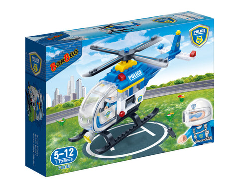 Police Helicopter Banbao blocks 7008