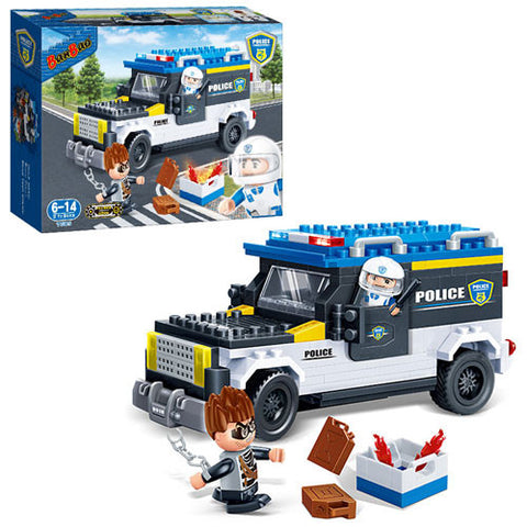 Police Van 242pcs Banbao blocks 7005