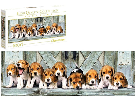 1000 Piece Puzzle Beagles Panorama