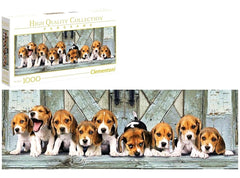 Beagles Panorama 1000 piece puzzle