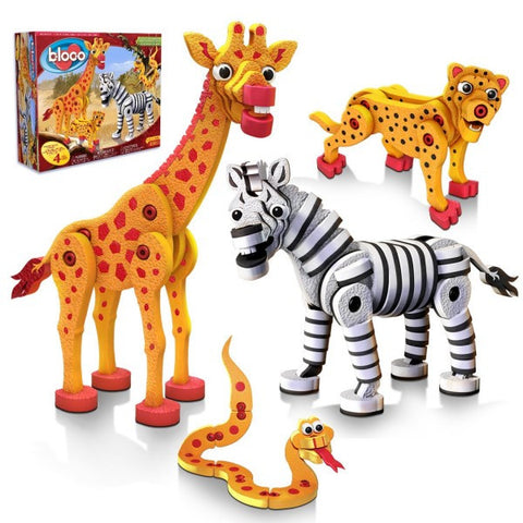 Bloco Savanna in Pyjamas Giraffe and Zebra