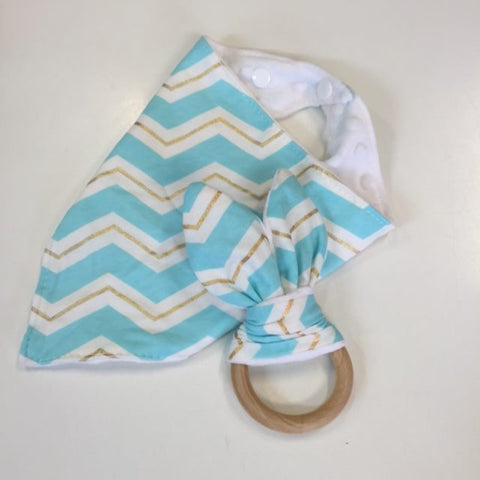Bandana Bib & Bunny Ear Teether Set