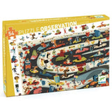 Djeco Car Rally 54 piece Observation Puzzle & Poster