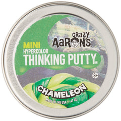 Crazy Aarons Thinking Putty Mini Tin Chameleon -5cm