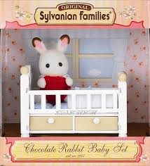 kidz-stuff-online - Sylvanian Families Chocolate Rabbit Baby Set