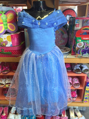 kidz-stuff-online - Cinderella Deluxe Blue Dress Small
