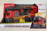 City Fire Ladder Truck with lights and sounds Dickie