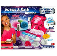 sceince set make your own soap and bath bomb set