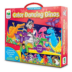 Color Dancing Dinos Long & Tall Puzzle