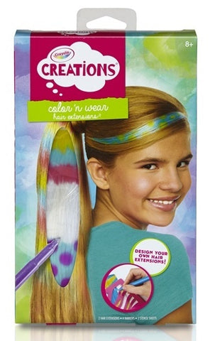 Crayola Creations Color And Wear Hair Extensions