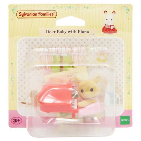 Sylvanian Families Deer Baby With Piano
