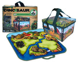Dinosaur Zip bin Playmat small - transforming toybox