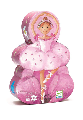 Ballerina and Flower puzzle 36 piece - Djeco