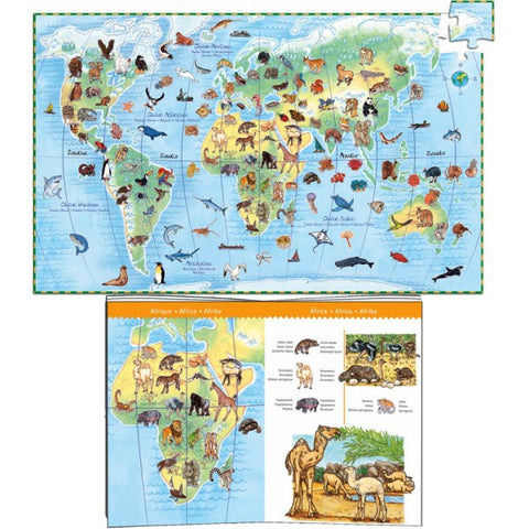 Djeco World and Animal Observation Puzzle