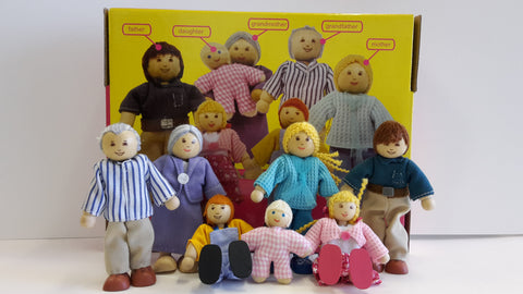Doll Family wooden ecotoy