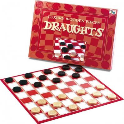 Luxury Wooden Pieces Draughts