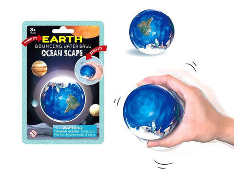 Earth Bouncing Water Ball