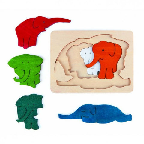 Elephants - Hape Wooden Puzzle