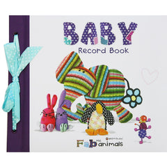Baby Record Book - Fabric Animals