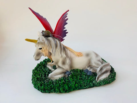 Fairy with Unicorn figurine