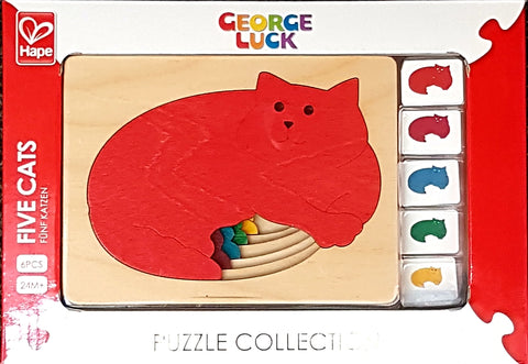 Five Cats Wooden Puzzle Hape