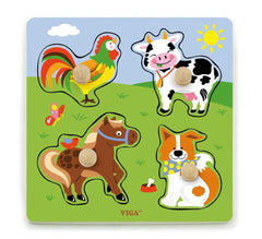 Viga Big Knob Puzzle - Farm Animals