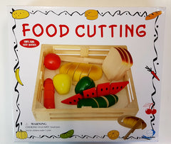 Wooden Food Cutting Set 10 pce
