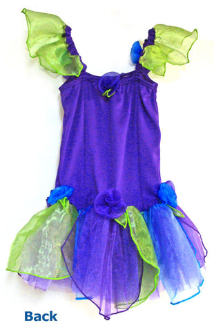 Fairy Girls Purple Fairy Dress Large