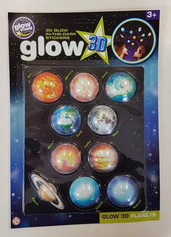 3D Glow in the Dark Planets