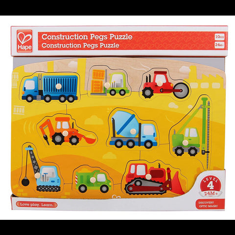 Construction Peg Puzzle Hape