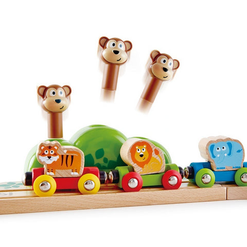 Wooden Train set - Music and Monkey Railway - Hape