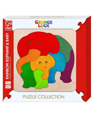 Rainbow elepahant and baby puzzle