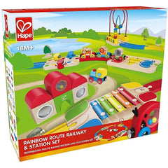 kidz-stuff-online - Rainbow Route Railway and Station Set - Hape