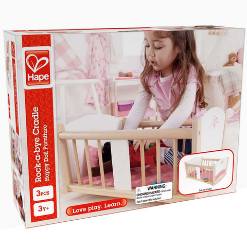 Rock-a-bye Baby Cradle rocking doll cot  Hape