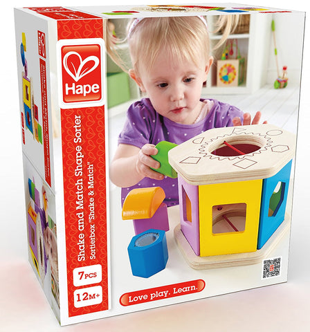 Shake and Match Wooden Shape Sorter Hape