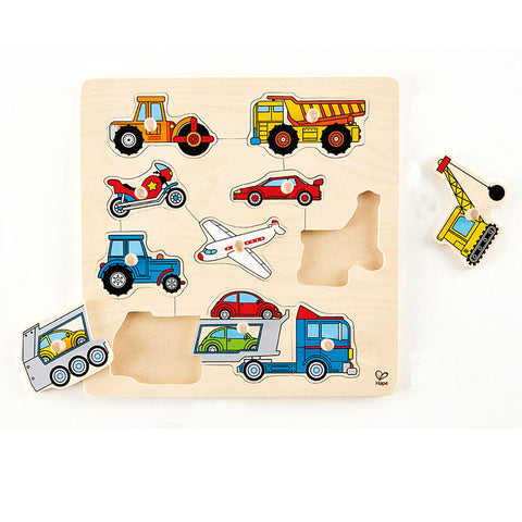 Vehicle Knob Puzzle Hape