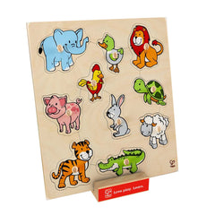 Friendly Animals Wooden Puzzle- Hape