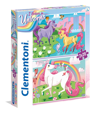 I Believe In Unicorns 2x20 piece Puzzle