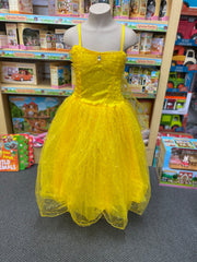 yellow dress glitter